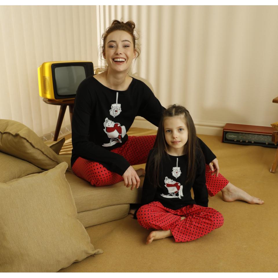 Памучна детска пижама A-63179-K-1