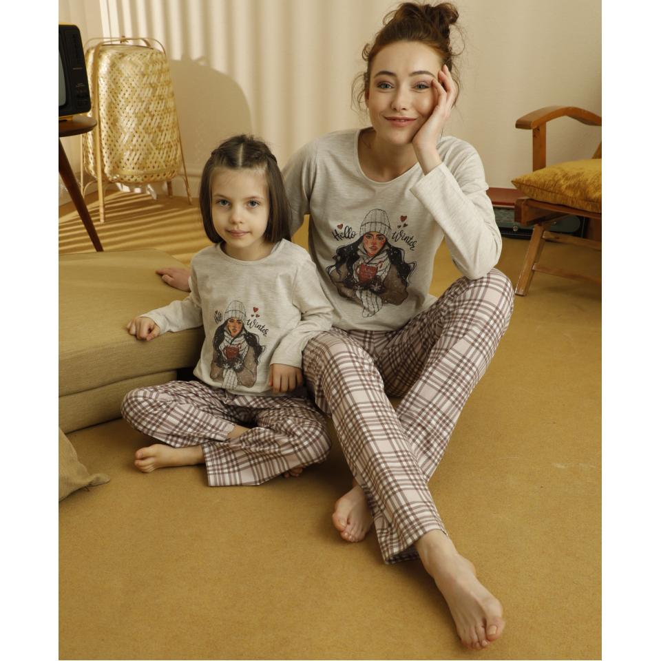 Памучна детска пижама A-63182-K-7