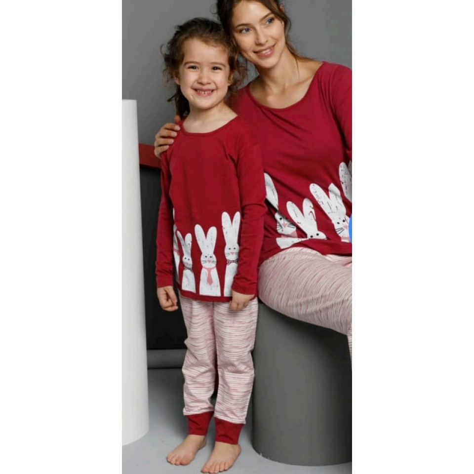 Памучна детска пижама A-63011-K-9
