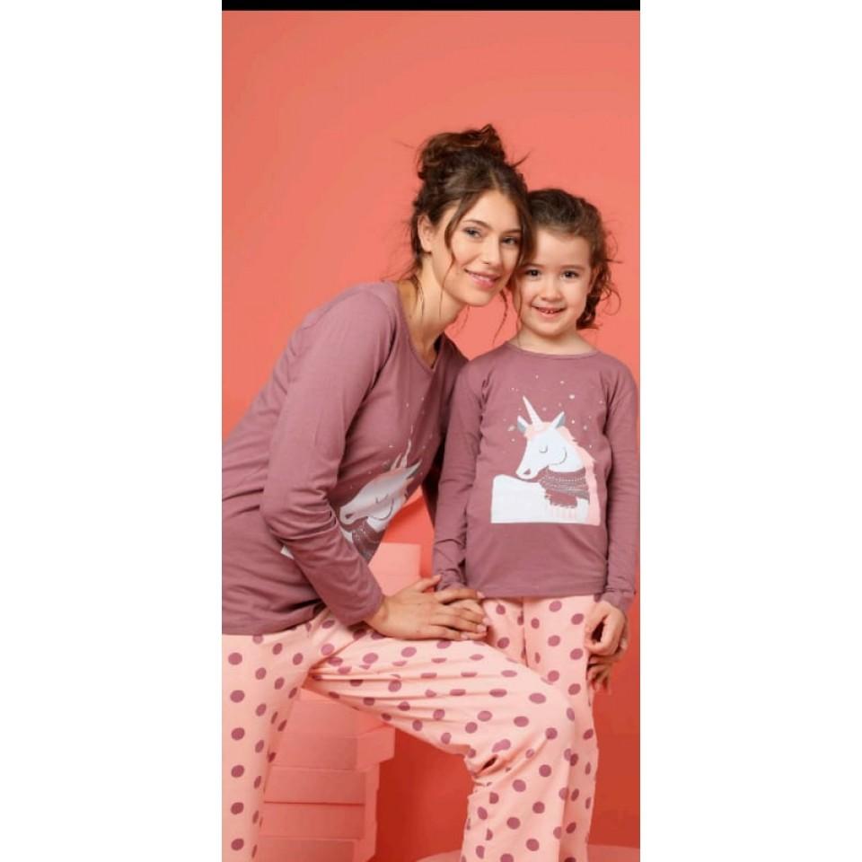 Памучна детска пижама A-63042-K-27