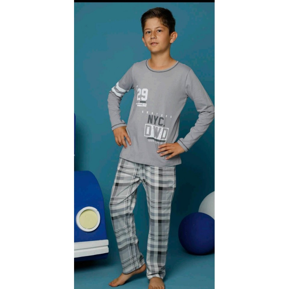 Памучна детска пижама A-64319-13