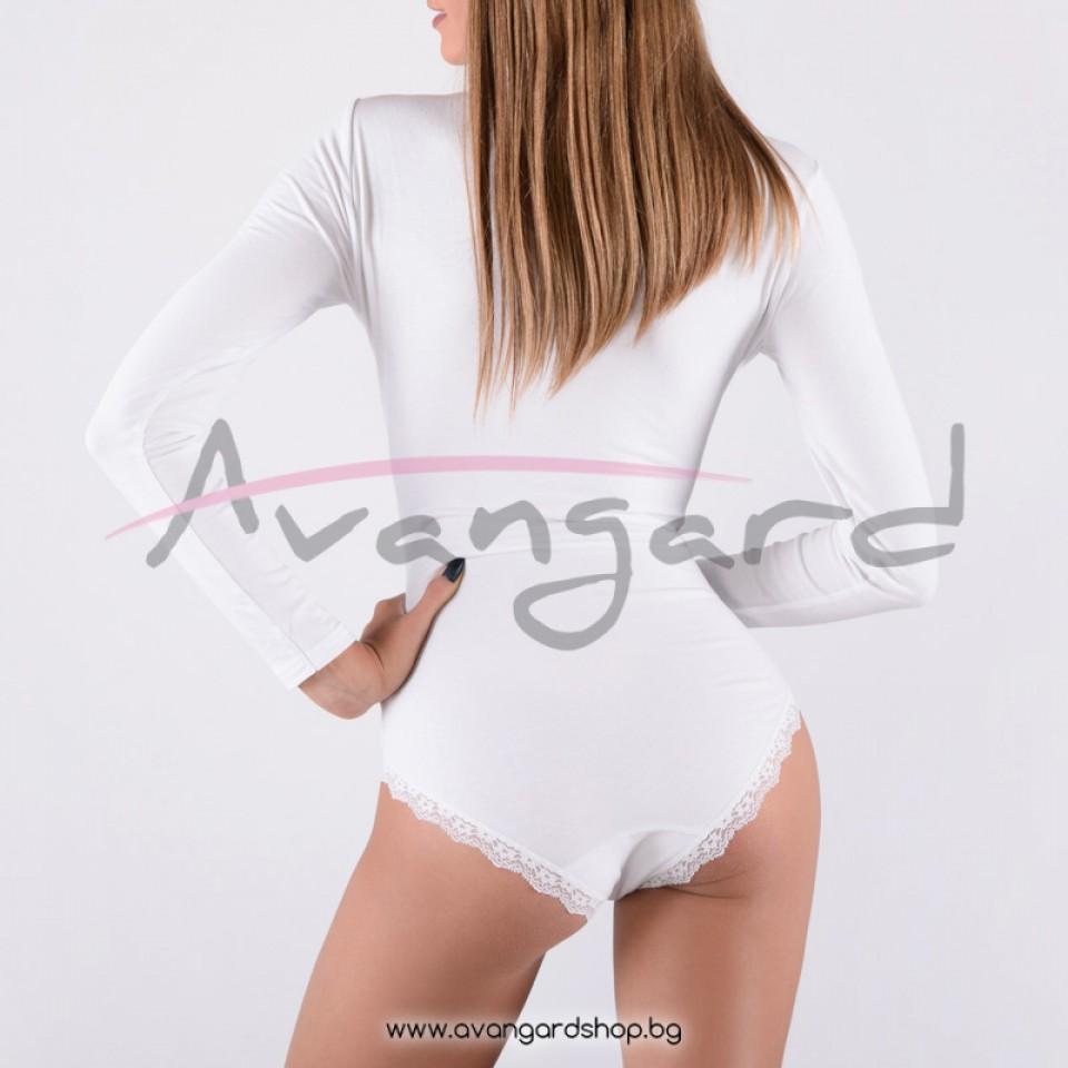 Памучно боди бикина бяло-A-239-2